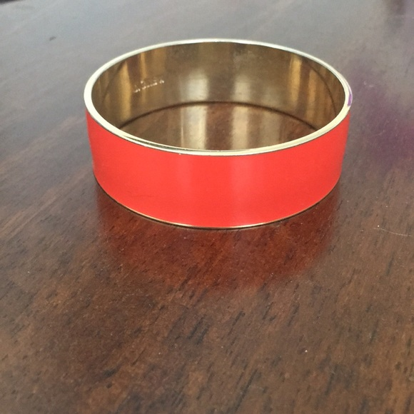J. Crew Jewelry - Jcrew enamel bangle - coral
